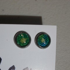 Gaylord - painted ear stud in stainless