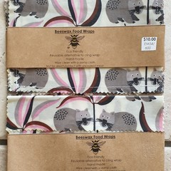 beeswax pocket pack of 4 wombats