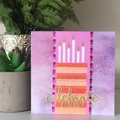 Celebrate Today (Pink, Purple & Orange)