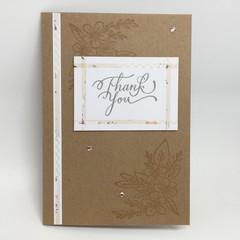 Thank You Card - Kraft and Narrow washi tape