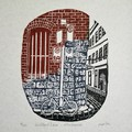 Melbourne Laneway Lino Cut Print / Historic Guildford Lane