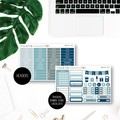 Denim Love Weekly Kit Planner Stickers for the Vertical Erin Condren - KIT009