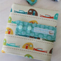Car Wallet with Road, storage roll six toy cars - caravans, jeep, train caddy