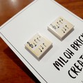 Flat Square Picture Stud Earrings