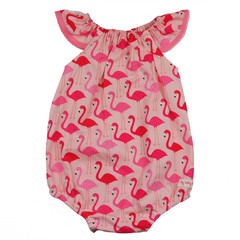 Size 1 Pink Flamingos Romper