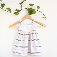 Size 2 Handmade Pink Striped Toddler Sundress