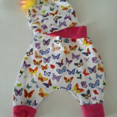STUNNING BABY GIRLS PANTS /LEGGINGS  PLUS POM POM HAT