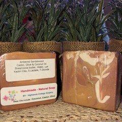 Natural Soap Bundle   - Ambered Sandalwood x 2 - by 'Highlands Cottage Soapery'