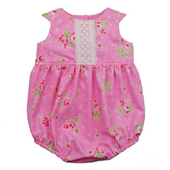 Size 00 Baby Rose Tea Party Romper