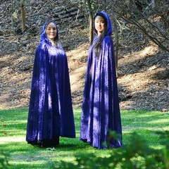 Medium Length Violet Velour Cloak