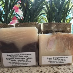 Natural Soap Bundle x 2 - Ess Oil and Clay Soap  by 'Highlands Cottage Soapery'