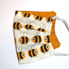 The Bee Happy - Handmade Cotton Face Mask