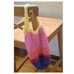 Crochet Mesh Market Bag - Dawn