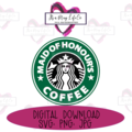 Instant Digital Download: Starbucks Maid of Honour's Coffee Cutting/Sublimation