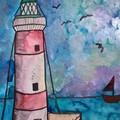 Original watercolour of lighthouse