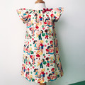 Smock Dress - Peasant Dress - Retro Candy Shop - Cream - Red
