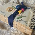 The Secret Garden Handcrafted Journal 'the Pansy Patch'
