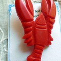 Reproduction, Vintage brooch. Lobster