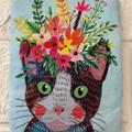 FLORAL PETS  - CATS - COIN PURSES