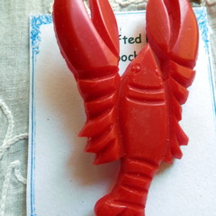 Reproduction, Vintage brooch. Lobster