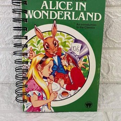 2021 Best Loved Stories Upcycled Diary - Alice In Wonderland