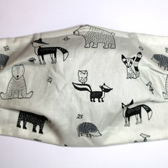 The Bear in There - Handmade Cotton Face Mask