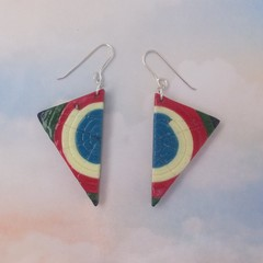 Polymer Clay Triangle Earrings