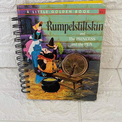 2021 Little Golden Book Upcycled Diary- Rumplestiltskin and Princess and the Pea