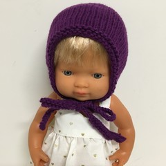 Miniland Dolls Knitted Bonnet to fit 38cm Dolls
