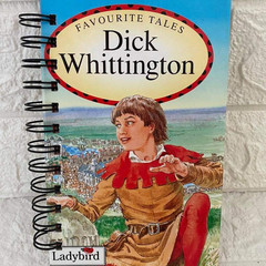 Ladybird  Favourite Tales Upcycled Notebook - Dick Whittington