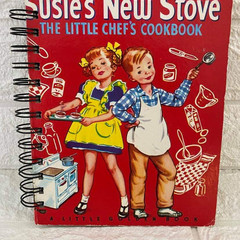 2021 Little Golden Book Upcycled Diary - Susie's New Stove