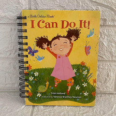 Little Golden Book Upcycled Notebook - I Can Do It!