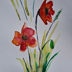 Original watercolour flowers