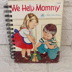 2021 Little Golden Book Upcycled Diary - We Help Mommy