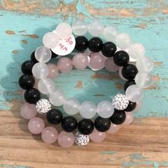 Stone & Bling Bracelet Stack