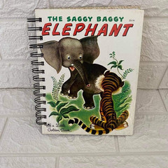 2021 Little Golden Book Upcycled Diary - The Saggy Baggy Elephant