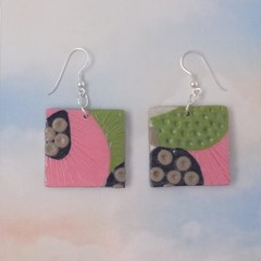 Polymer Clay Miss Matched Earrings