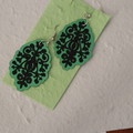 Superlight pair of earrings - Damask Design