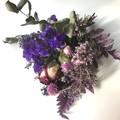 Purple Joy- Dried mini bouquet - Eucalyptus - Native - 22cm