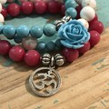 Roses are Turquoise Bracelet Stack
