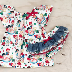 Ruffle Bums - Candy Shop - Nappy Cover -  Baby Girl