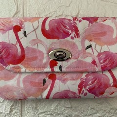 MEDIUM TURNLOCK PURSE - VARIOUS Flamingo, Chipmunk, Geo, Elephant, Floral
