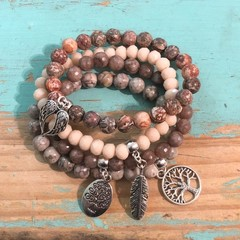 Neutral Charm Bracelet stack