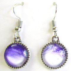 Acrylic Pour Round Drop earrings Set 1