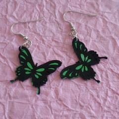 Superlight pair of earrings - Butterfly Design