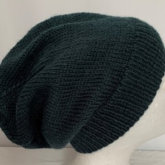 Unisex adult hand knit slouchy/beanie Imp Alpaca20%-wool75%-Silk5%  2/2