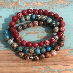 swirls bracelet stack