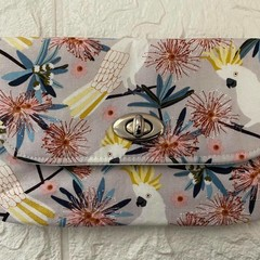 MEDIUM TURNLOCK PURSE - VARIOUS Jocelyn Proust, Cockatoo, Galah, Water Colour