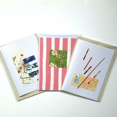 Handmade cards featuring mixed multi designs - 3 in a pack