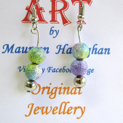 Bead Round Drop earring Set 1